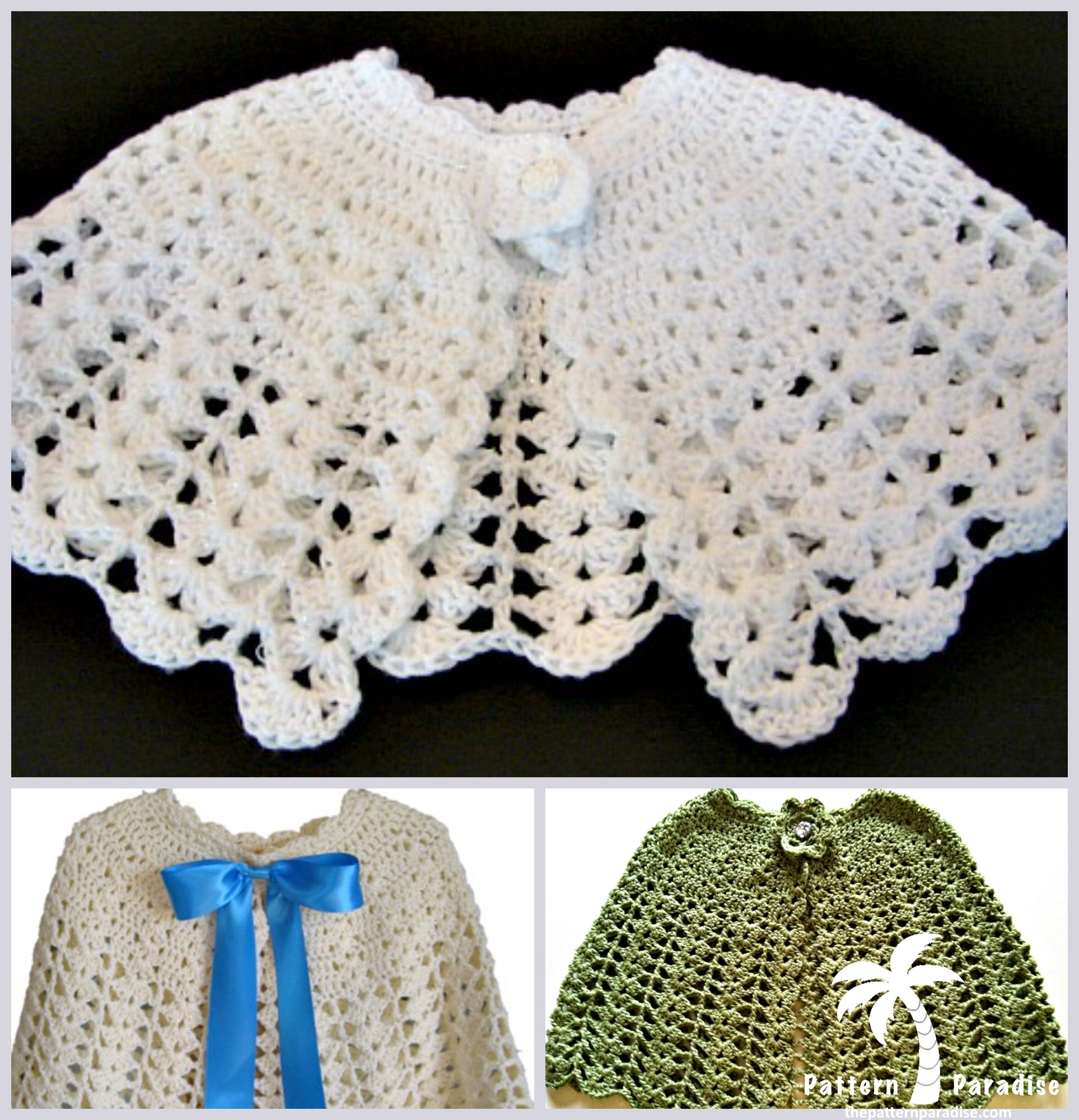 Crochet Patterns Capes : Crochet Cape & Holiday Dresses - Pattern Paradise