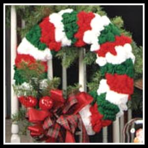 Yarn-Christmas-Wreath