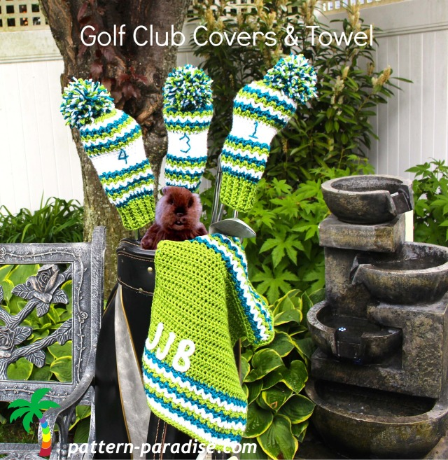 Crochet Patterns Golf Club Covers Free : FREE Crochet Pattern - Golf Club Covers and Towel Pattern Paradise