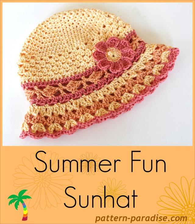 NEW Crochet Pattern - Summer Fun Sunhat! - Pattern Paradise