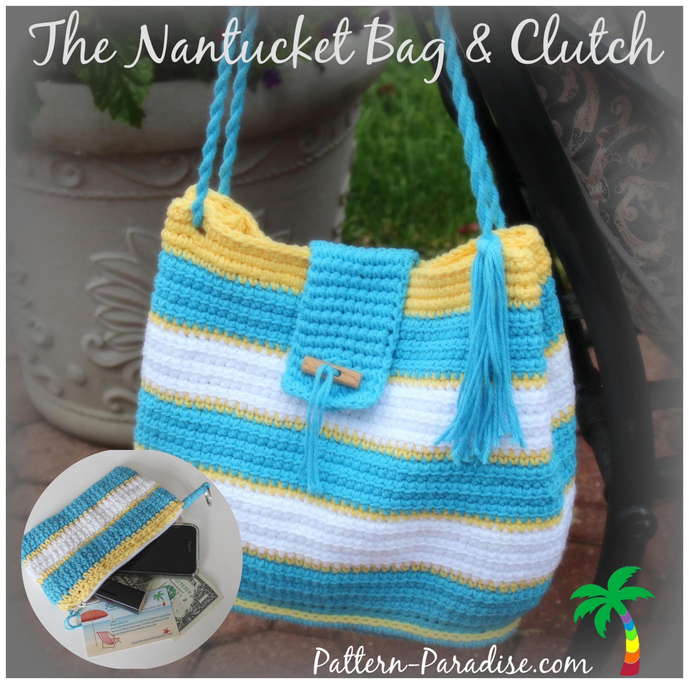 New Crochet Purse Patterns : NEW Crochet Pattern - The Nantucket Bag - Pattern Paradise