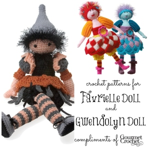Dolls collage graphic Gourmet Crochet