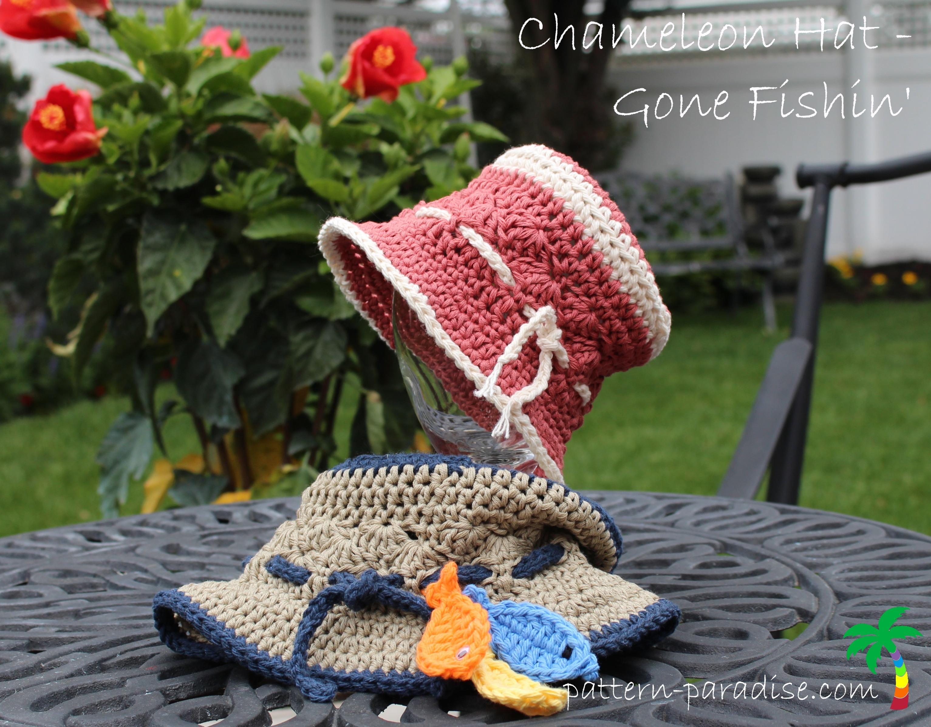 free gone fishing crochet hat