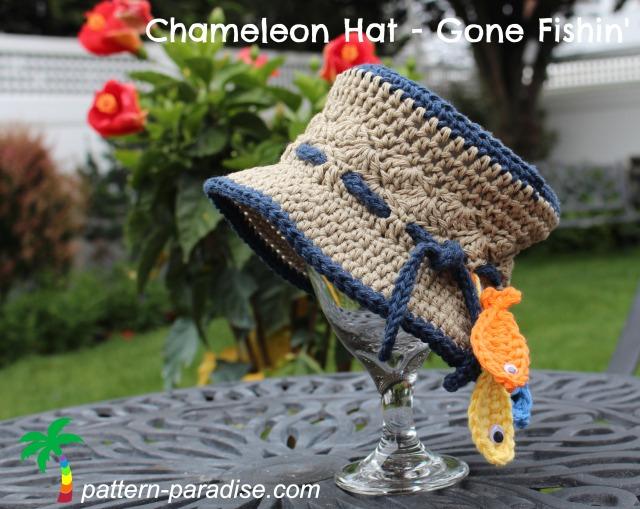 FREE Crochet Pattern - Chameleon Hat - Gone Fishin ...